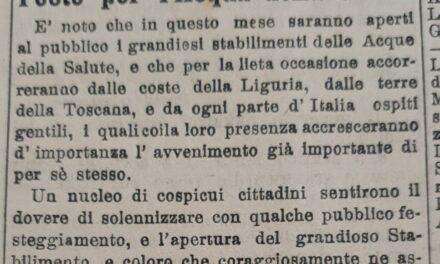 9 luglio 1904: Preparativi per i festeggiamenti dell'inaugurazione e la raccolta fondi