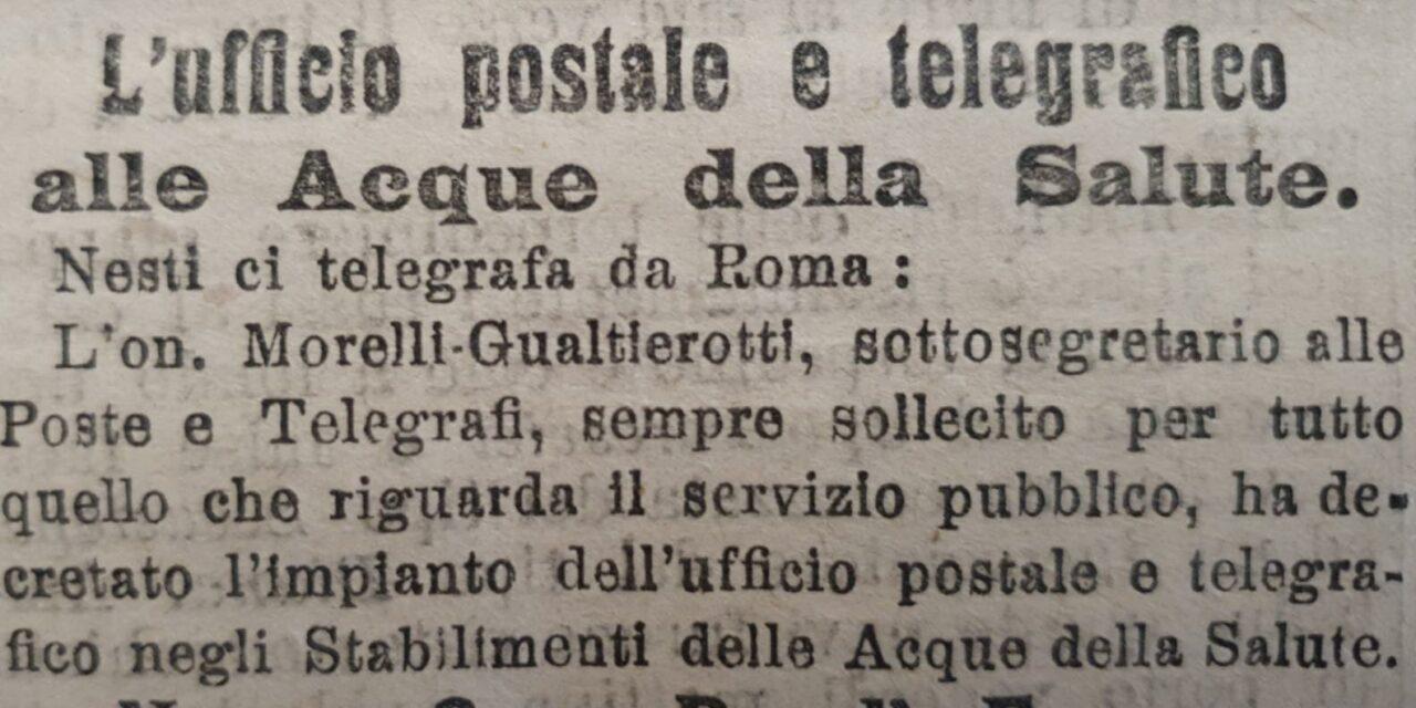 Acque della Salute: 26 giugno 1904 – attivazione ufficio postale e telegrafo